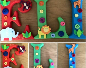 Freestanding wooden letters 150mm decorative , childs room decor name gift christmas present home decor personalised custom made