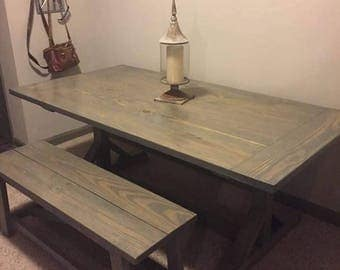 Harvest Table | Rustic Dining Table | Farmhouse Table | Square Legs | Solid  Wood Construction