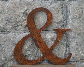 Flat Metal & / Ampersand / Metal / Letter / Garden / Industrial / Vintage / Rustic / Floral / Gift / Wedding / Home / 25cm