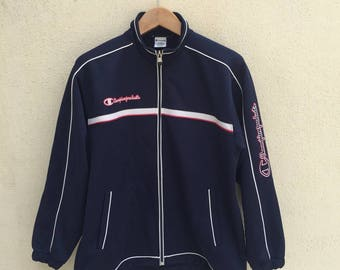 Vintage Champion Track Top Embroidered Logo