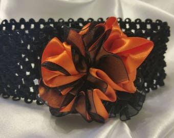 Girls Orange and Black Headband