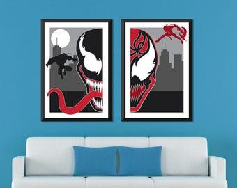 Marvel Minimalist: Venom & Carnage Set