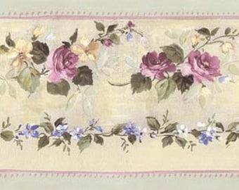 Floral Wallpaper Border B76555