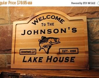Personalized lake house sign, custom wood lake house sign, Personalized lake sign, custom lake house sign, custom lake sign, wood lake sign