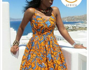 African Print Dress/ Ankara dress/ Chi Dress