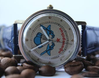 Soviet watch, Raketa, officer watch, commander watch, mechanical mens watch USSR, vintage watch, working.