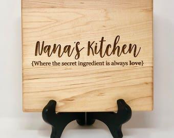 Nana's Kitchen, Gift for Nana, Secret Ingredient, Love, Kitchen, Gift for Grandmother, Grandmother Gift, Nana Gift, Nana's Birthday, Gift