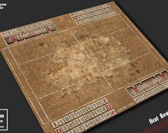 Battle mat: Heat Bowl - Blood Bowl game board, table map scenery for fantasy football boardgame terrain