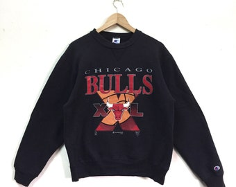 Rare!!! Chicago Bulls By Champion Sweatshirt Vintage 90s NBA NFL
