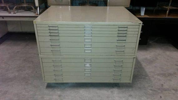 Vintage map cabinets by safco vintage blueprint cabinets like this item malvernweather Gallery