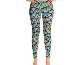 Mermaid Leggings | Halloween Leggings | Yoga Leggings | Exercise Leggings