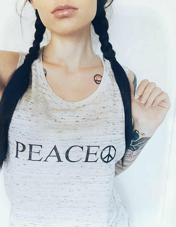 PEACE Tee, Peace Tshirt, Peace Shirt, Hippie Tee, Boho Tee, Peace Top, Peace, Peace Clothing, Peace Tshirts