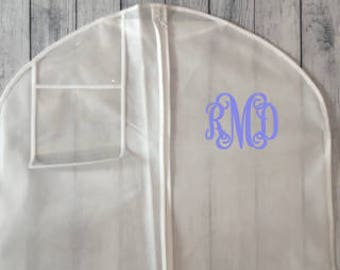 "Personalized Bridal Gown Garment Bag - 72"" w/ 10"" Gusset"