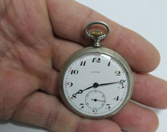 Vintage pocket watch  Syma Porcelain dial
