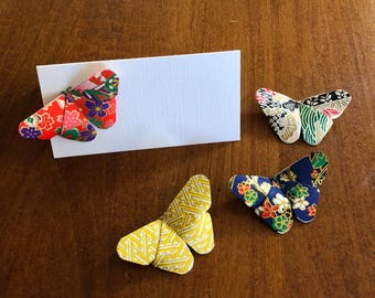 3D Origami Butterfly Blank Place Cards, Wedding Place Cards, Table Name Cards, Washi Butterfly Place Cards, Table Decorations, Set of 25