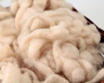 Taupe Merino Wool Batt Pieces