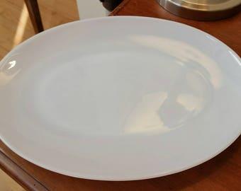 Fire King Milk Glass Opal Serving Platter