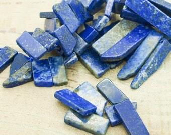 Beads (lot 1) rectangle Lapis lazuli set of 5