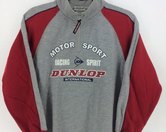Vintage 90's Dunlop Sport Classic Design Skate Sweat Shirt Windbreaker Sweater Varsity Jacket Size M #A826