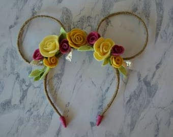 Belle Inspired Minnie Mouse Ears