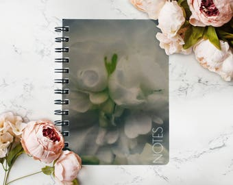 Personalized Floral Notebook,  Custom Notebook, Wirebound Notebook, Privet
