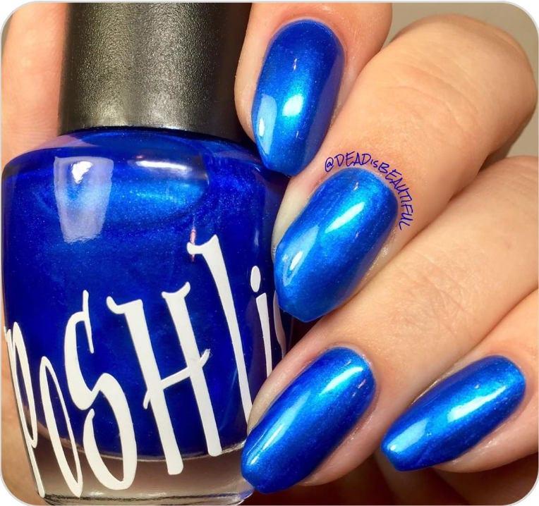 Unique Sublime Pearlescent Royal Blue Nail Polish