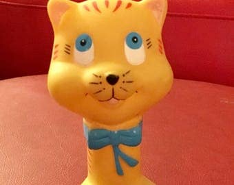 Adorable Vintage Rubber Cat Kitty Squeak Toy Kitsch
