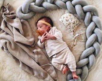 Bumper baby bed bumper bedding nursery light gray