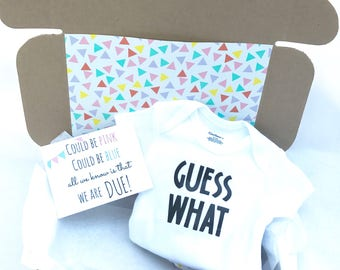 Pregnancy Announcement Box (Guess What)