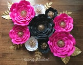 9 Piece Kate Inspired Paper Flowers, Wedding Decor, Bridal Decor, Backdrops, Grand Opening SALE!