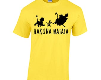 Hakuna Matata Lion King Tee shirt Simba  Timon Pumbaa Rafiki Mufasa circle of life Scar Zazu Disney World vacation shirt Magic Kingdom Epcot