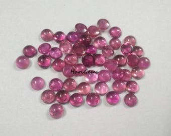10 pieces 3mm Pink Tourmaline cabochon round gemstone - Natural Pink Tourmaline round cabochon loose gemstone - calibrated size Tourmaline