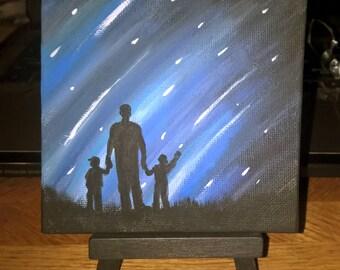 The Wonder of Fatherhood, Custom Painting, Desktop, Mini, 4x4