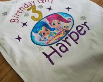 Shimmer & shine Birthday shirt
