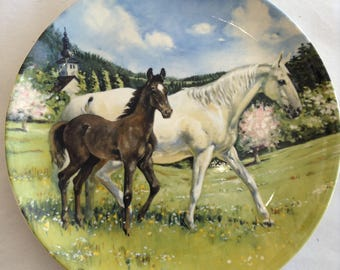 Limited Edition Spode Plate - 'The Austrian Lipizzaner'