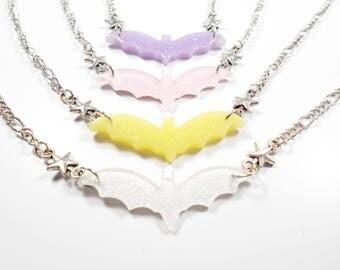 SALE 50% Choker necklace - pastelgoth bald mice