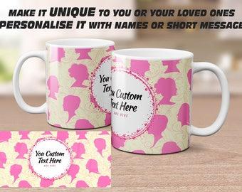 Personalised patterned Mug. Customised Mug Gift. Photo Mug Coffee Mug, Tea Mug, Photo Mug, Drinkware,