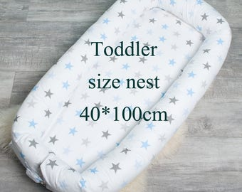 Ready Toddler size Baby Nest with Removable cover, buckle closure Baby Nest, pod, sleep bed, cot, snuggle nest,  sleep nest, co sleeper