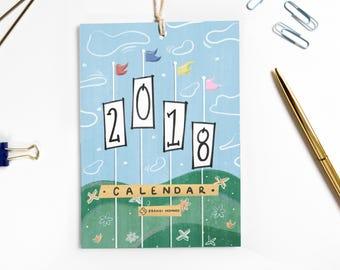 2018 Calendar, Retro Disney, Best Friend Gift, Retro Disney Parks, Co-Worker Gift, Disney Lover Birthday Gift, Gift Under 20, Gift for Her