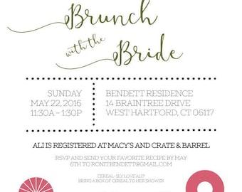 Brunch with the Bride Bridal Shower Invitation