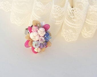 Romantic fabric ring, organza ring, lace ring,cotton ring, the one and only ring, ring for woman, gift for girl, present for girlfriend.