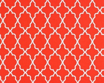 Moroccan Lattice in Clemintine Red/Orange by Michael Miller