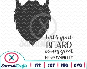 With Great Beard - Digital download - svg - eps - png - dxf - Cricut - Cameo - Files for cutting machines
