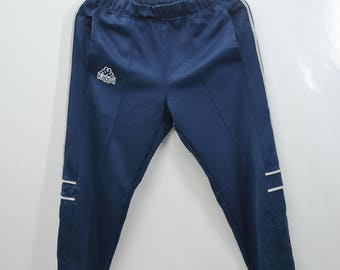 KAPPA Tracksuit Vintage 90's Kappa Spell Out 100% Polyester Made In Japan Track Pants Tracksuit Size Jaspo S