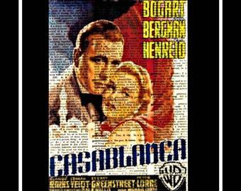 559 Casablanca movie poster Vintage paper