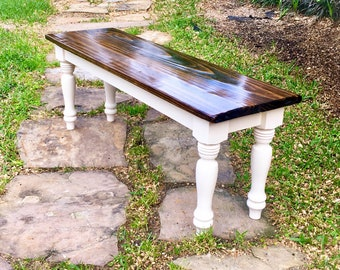 Childrens bench with farmhouse legs