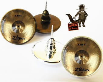 Drummer Cymbals earrings, drum earrings, Drummer Cymbals jewelry, gifts for drummers, Drummer gifts, Drummer, Drum, Drum sccessory
