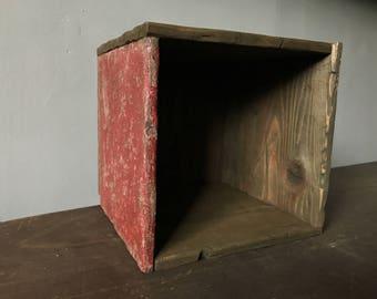 Square Box -1 side red medi-