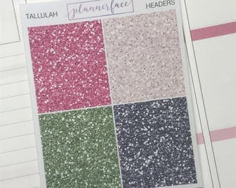Glitter Headers | Tallulah