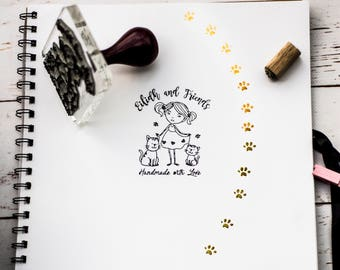 LOGO STAMP, custom Rubber Stamp, custom stamp, rubber stamps -  Turn your logo into a high quality Personalised stamp with handle